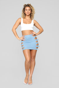 Cut To The Chase Skirt - Light Denim