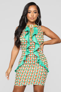 Groovy Baby Dress - Orange