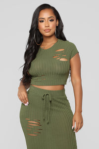 Casual Lover Top II - Olive