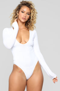 Meet Me Downtown Bodysuit - White