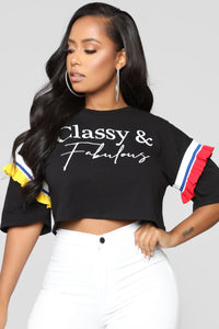 Classy And Fabulous Tee - Black