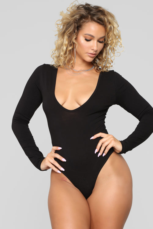 Meet Me Downtown Bodysuit - Black