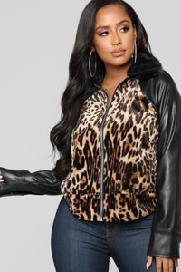 Wild Thoughts Fur Jacket - Leopard