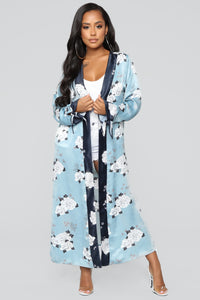Forever Floral Kimono - Blue Combo