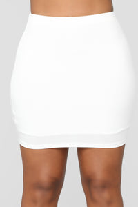 Super Sweet Confessions Skirt Set - Off White