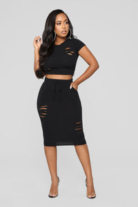 Casual Lover Skirt - Black Angle 2