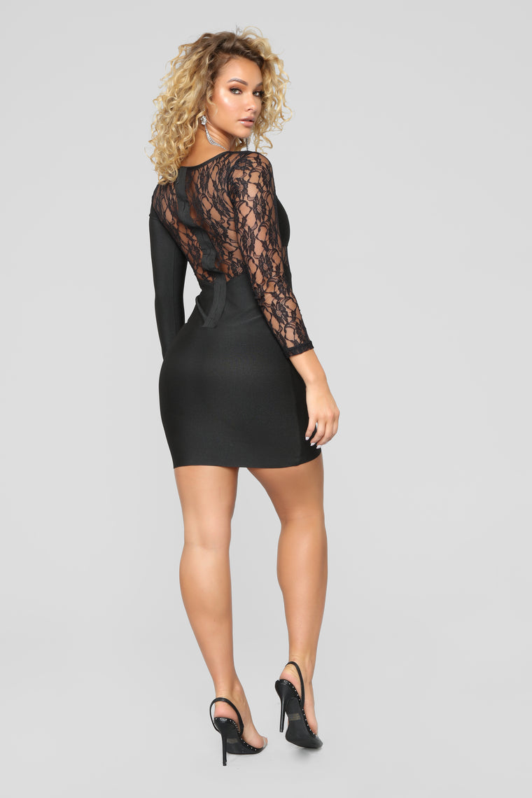 About Last Night Lace Dress - Black
