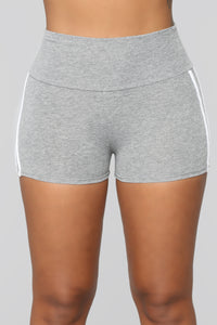 First Place Mini Shorts - Grey