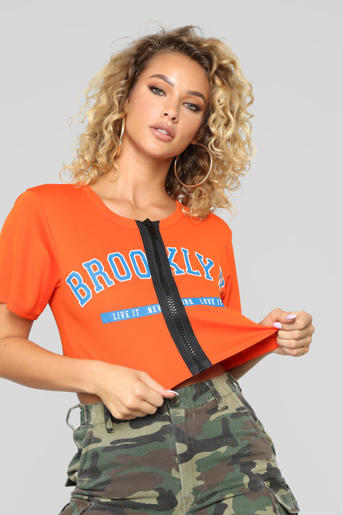 It's The Brooklyn Way Jersey Tee - Orange