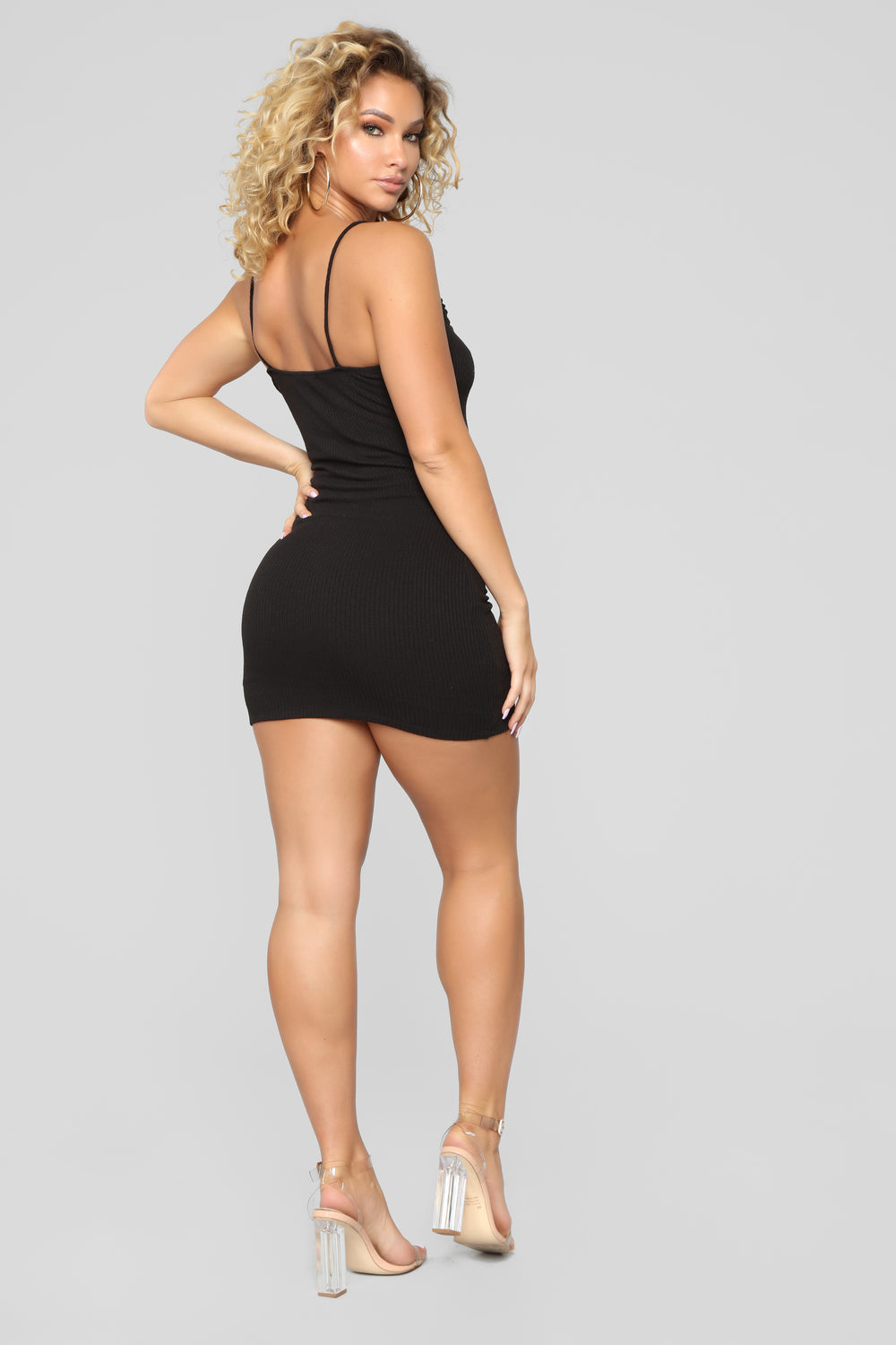Julia Rib Dress - Black
