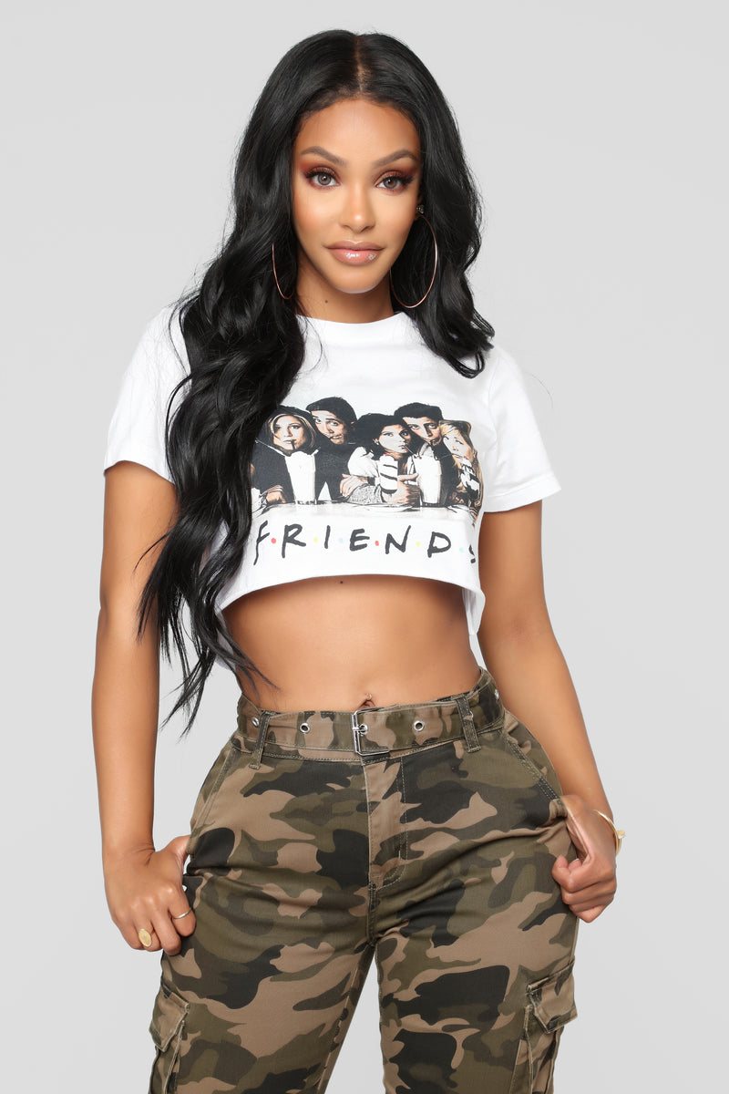 22d5c1c5de1e5 Friends Goals Crop Top - White