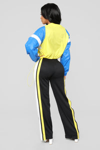 Nayeli Flare Pants - Black/Yellow