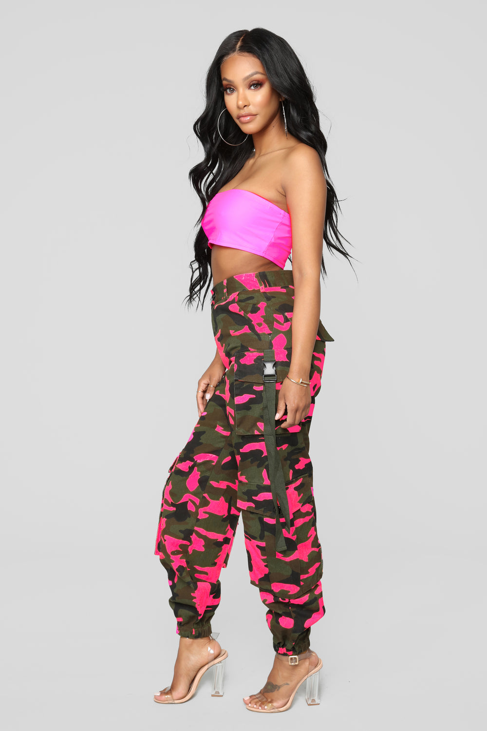 Neomie Cargo Joggers - Pink