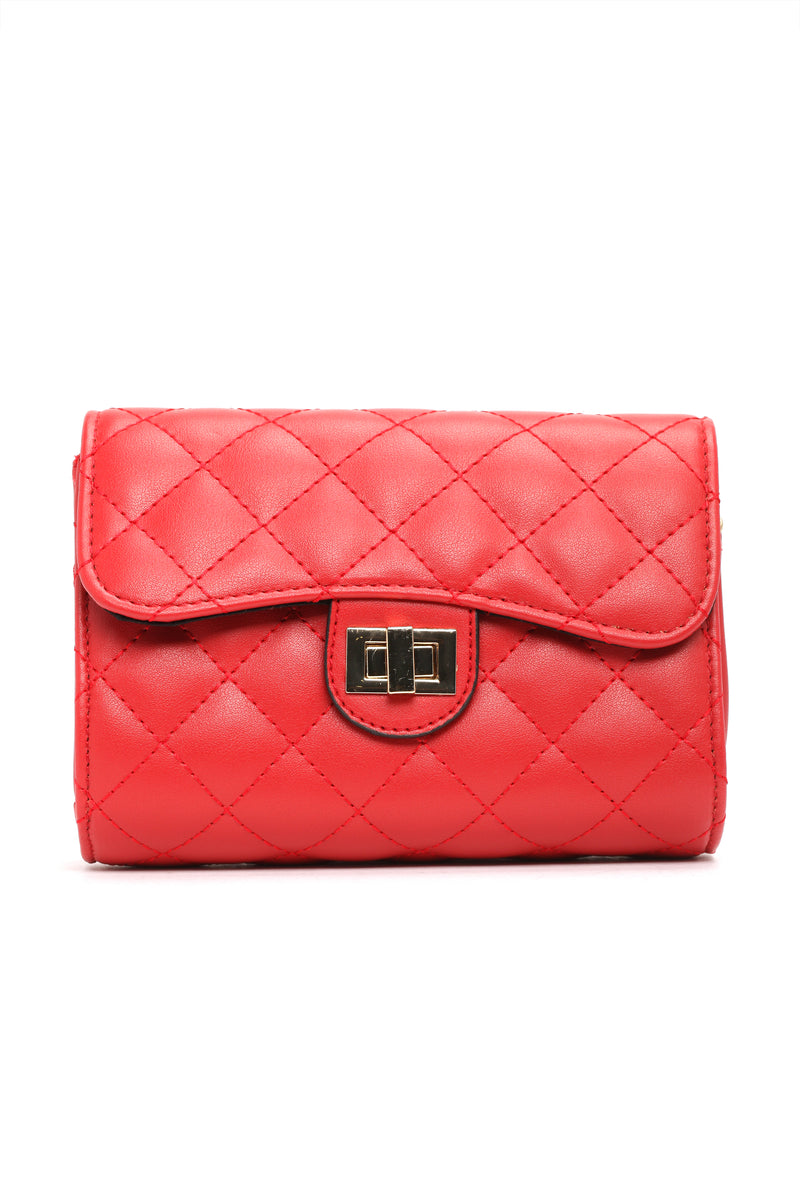 Quilted Comfort Fanny Pack - Red