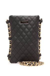 Are You Tuft Enough Crossbody - Black/Gold