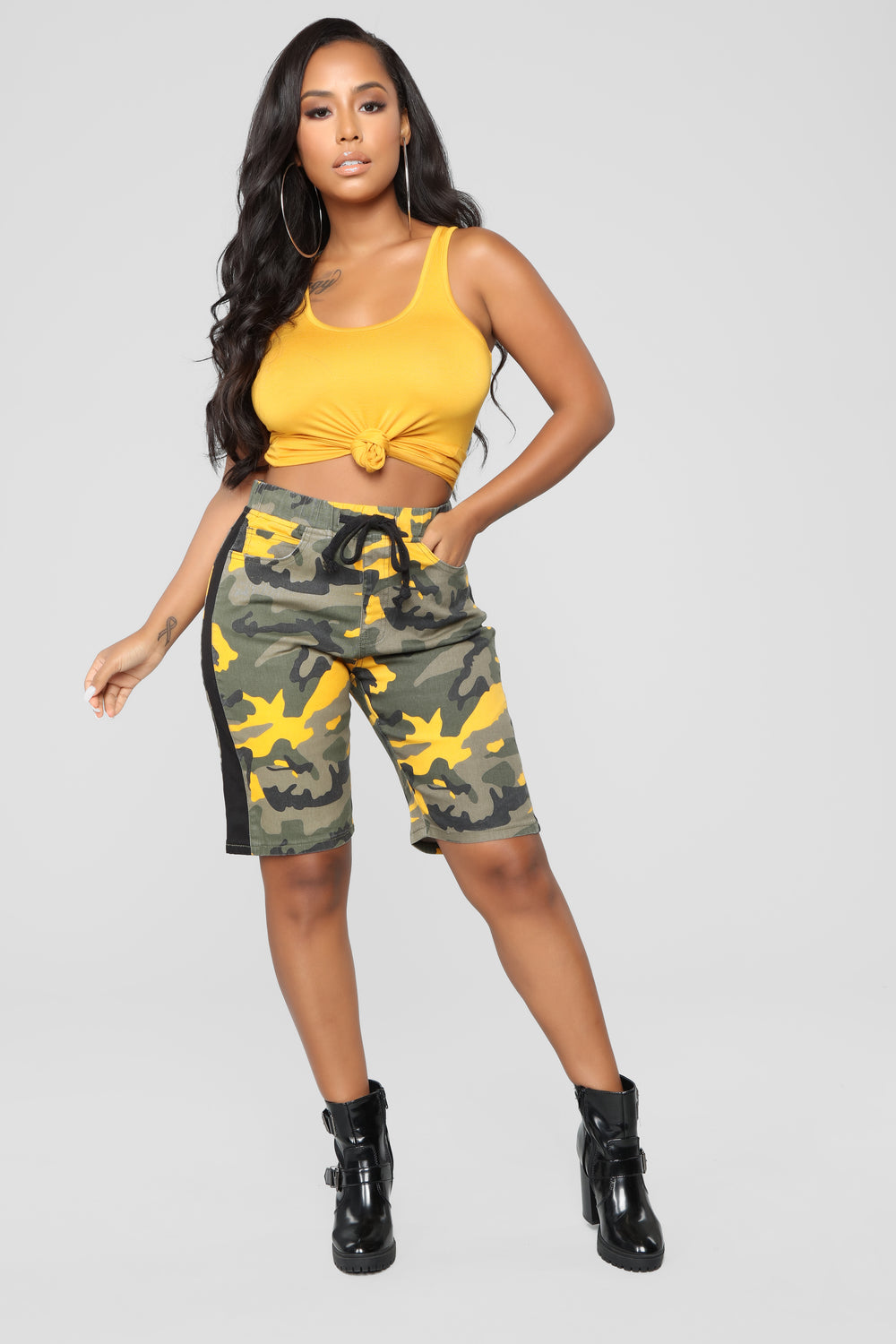 Cadet Kathy Cargo Shorts - Yellow