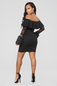 Can't Stop This Feelin' Dress - Black