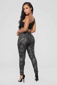 Snake Bite Leggings - Black