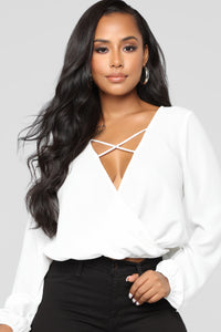 Strappy Intentions Top - Ivory Angle 1