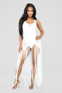 Can't Stop Desire Cover Up Dress - Ivory Angle 1