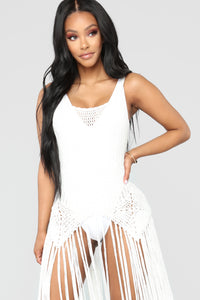 Can't Stop Desire Cover Up Dress - Ivory Angle 2