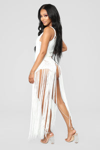 Can't Stop Desire Cover Up Dress - Ivory Angle 3