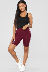 First Place Biker Shorts - Wine