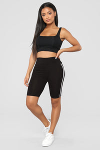 First Place Biker Shorts - Black
