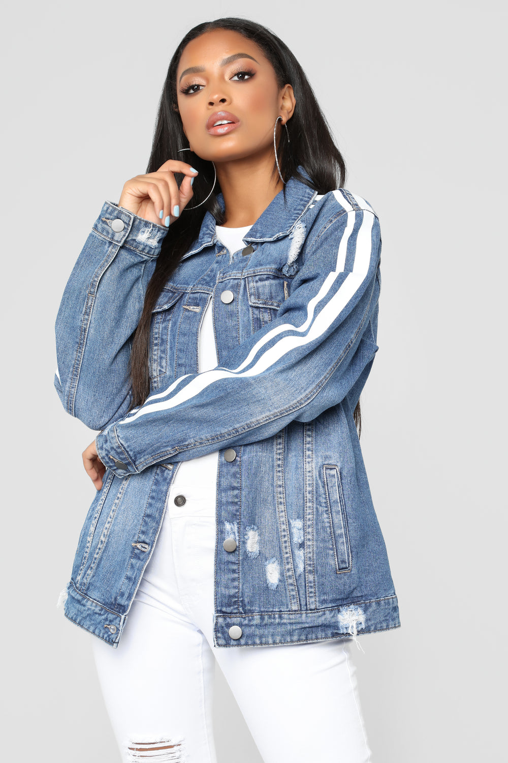 First At Last Denim Jacket - Blue/Combo