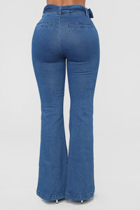 The Tide Is High Flare Jeans - Medium Blue Wash