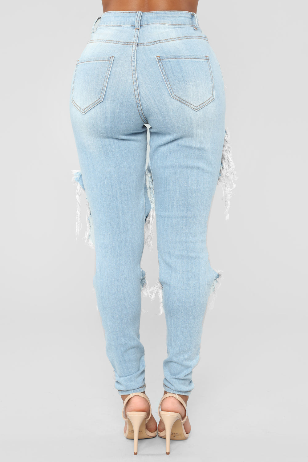 Syracuse Distressed Jeans - Light Blue Wash