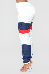 Cold Hearted Nylon Pants - White