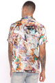 Holy Roller Short Sleeve Woven Top - Multi