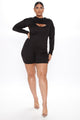 Did Us Well 2 Piece Romper - Black