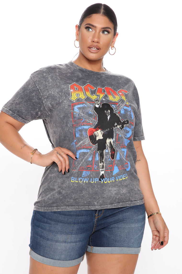ACDC Washed Graphic Tee - Black Wash