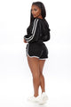 Tennis Glam Short Set - Black/White