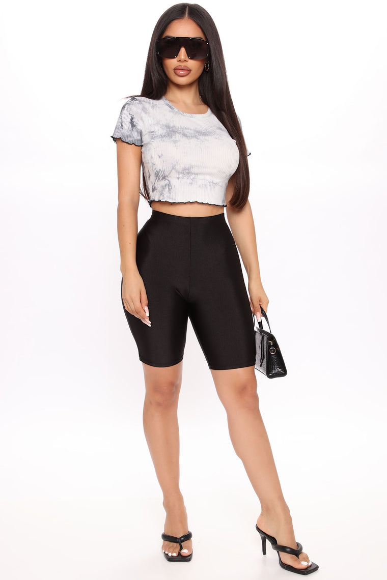 Not To Be Messed With Crop Top - Black/combo