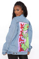 Reptar On The Move Denim Jacket - Medium Wash