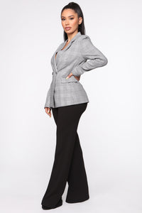 Victoria High Waisted Dress Pants - Black Angle 4