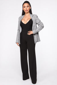 Victoria High Waisted Dress Pants - Black Angle 1