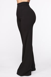 Victoria High Waisted Dress Pants - Black Angle 3