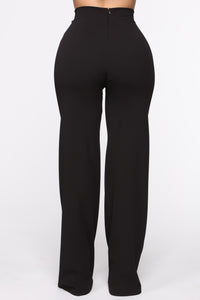 Victoria High Waisted Dress Pants - Black Angle 5