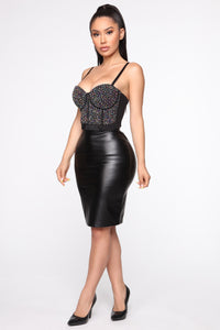 Say You'll Be There Corset - Black/combo