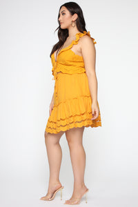 Ready For Some Fun Skort Set - Mustard Angle 11