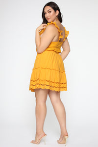 Ready For Some Fun Skort Set - Mustard Angle 13