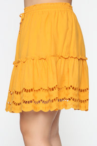 Ready For Some Fun Skort Set - Mustard Angle 15