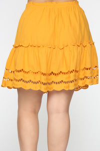 Ready For Some Fun Skort Set - Mustard Angle 16