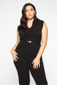 More To Love Jumpsuit - Black