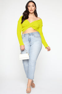 Twisted Sista Top - Neon Yellow Angle 7