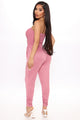 Calm Feelings Jumpsuit - Rose